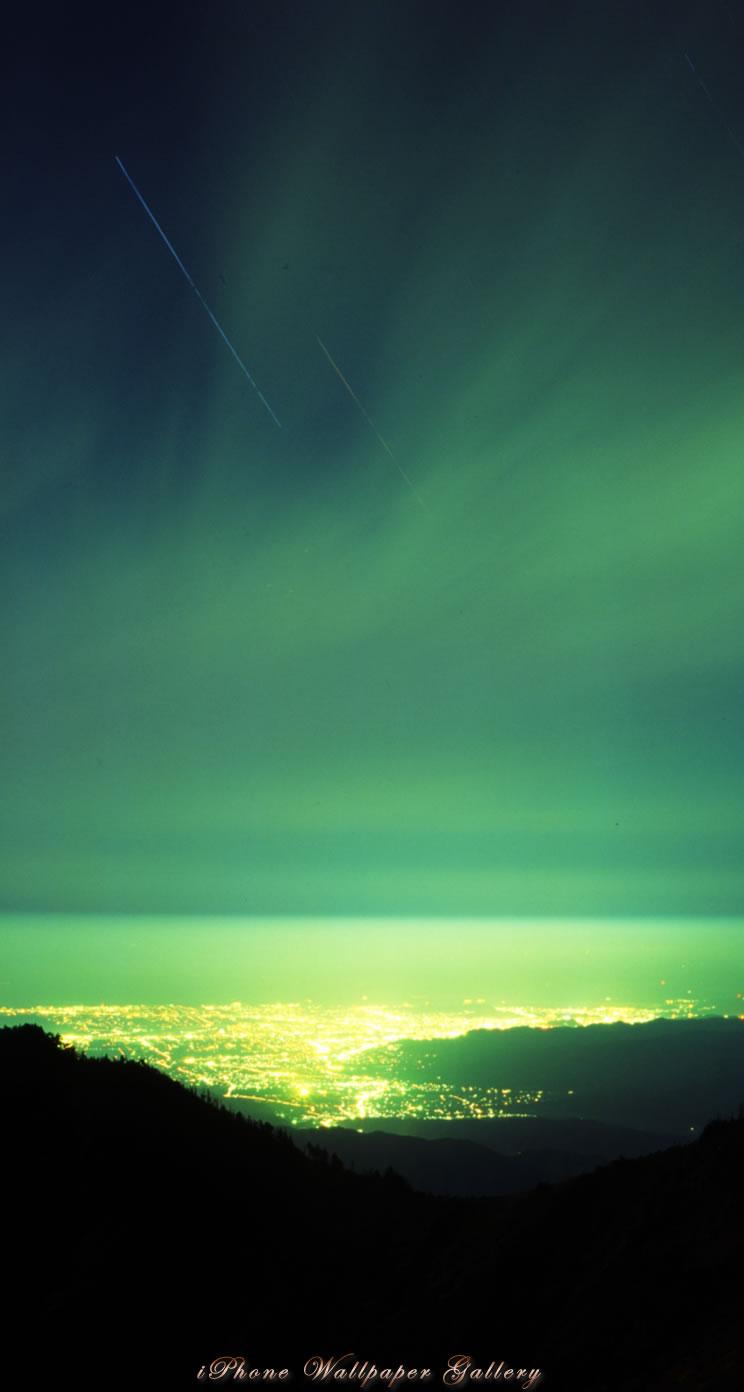 Iphone5 壁紙館 山岳写真 星降る夜空 Iphone Wallpaper Alpine