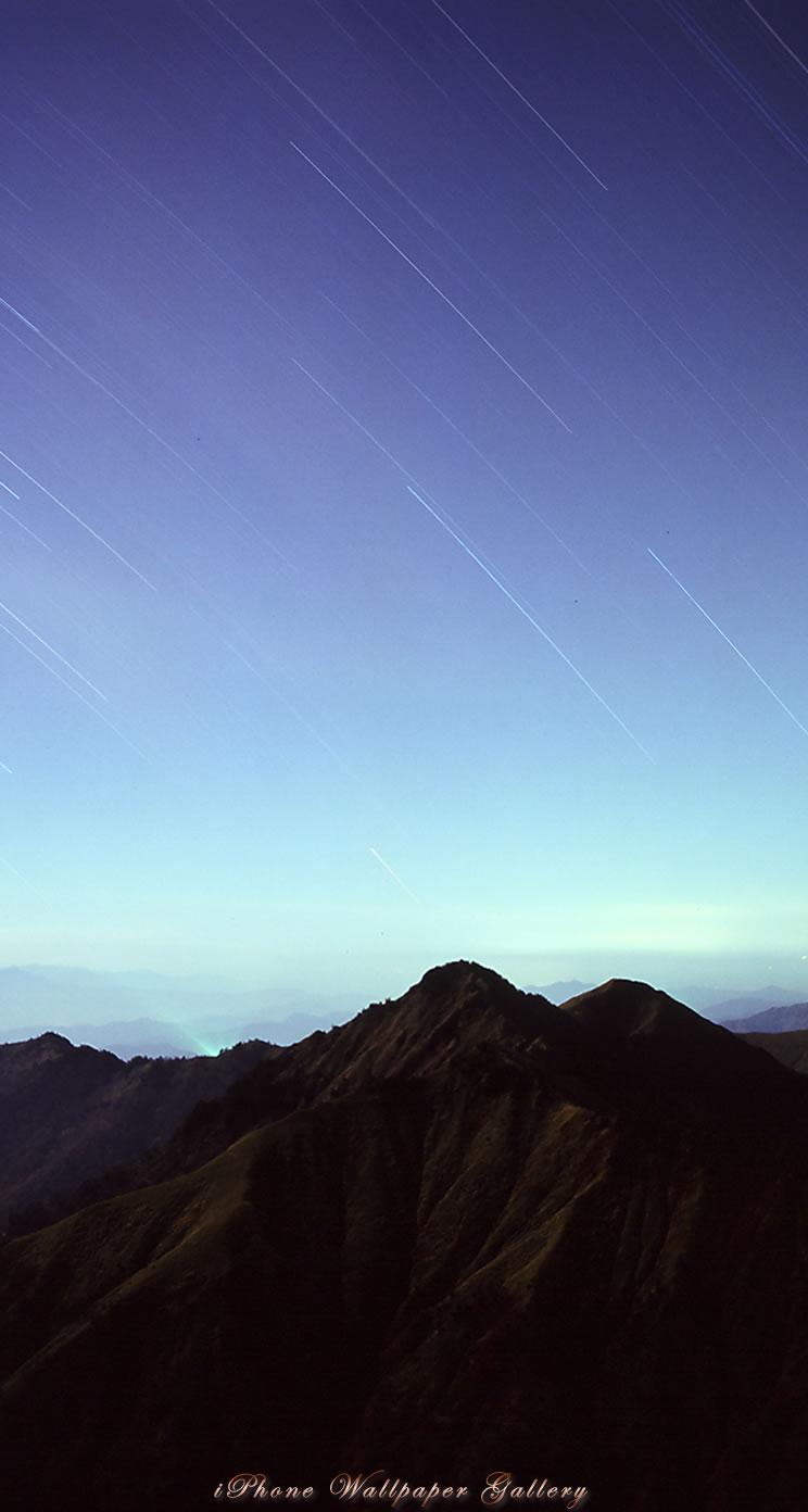 Iphone5 壁紙館 山岳写真 星降る峰 Iphone Wallpaper Alpine